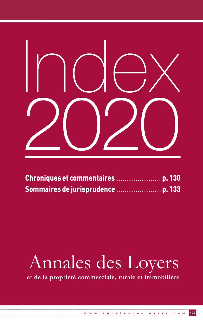 INDEX ADL 2020