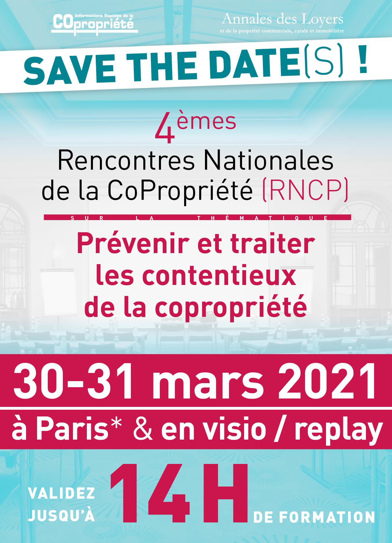 RNCP2021 - Rencontres Nationales de la Copropriété 2021